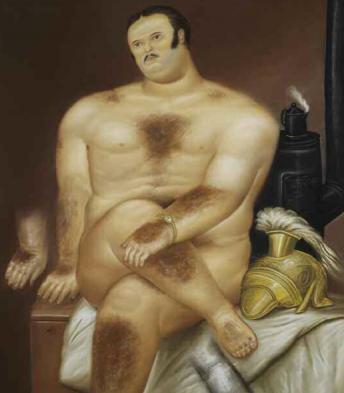 Fernando Botero: Studie eines maennlichen Modells (1972)